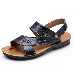 SANDALE - NU-PIEDS Hommes Sandales en cuir chaussures de plage