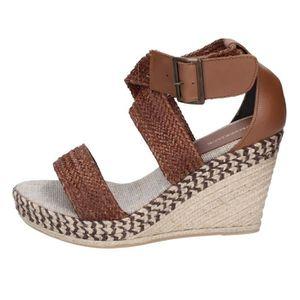 SANDALE - NU-PIEDS LUMBERJACK Chaussures Femme Sandale cuir Marron BT