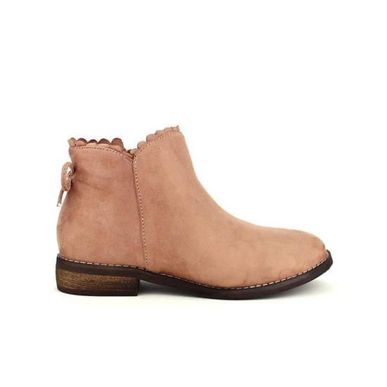 a891bf097a61 Chaussures Boots Bottine Rose Bottines Cendriyon Femme z0HZn4qnx