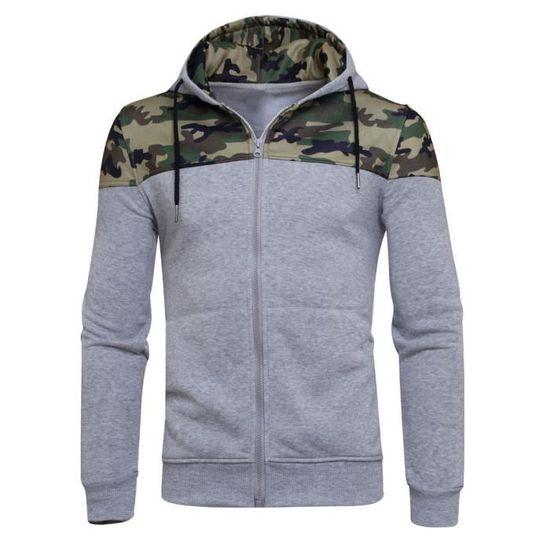Veste Zipper Hiver À Camouflage Outwear Homme Capuche Wy10017 Manteau Sweat rUYU6nwqP