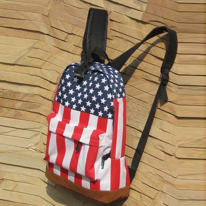 À School Backpack Sac Bandoulière Unisex Femme Dos Nation Pour Flag Canvas I6xU7B
