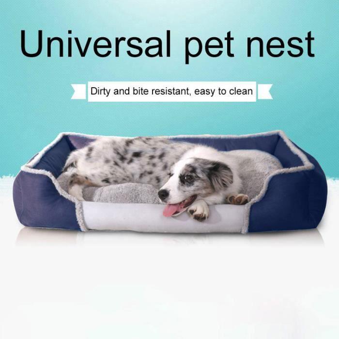 (bleu Foncé) Tapis Pour Chien Couleur Unie Fashion New Cute Pet Nest Accueil S Code Taille: 53 X 44 12 Cm