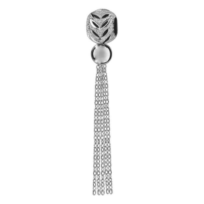 Charms Argent 925 Boule Diamanté avec Pompon