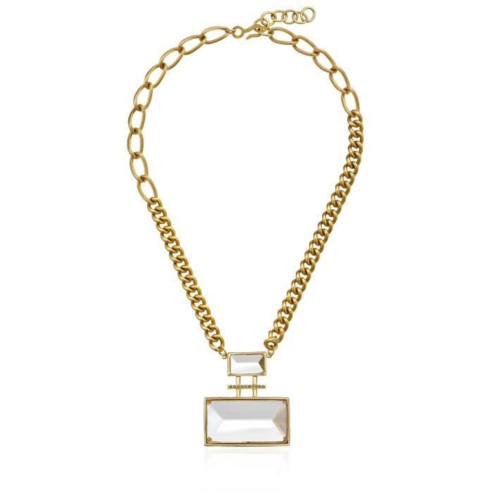 Haley Collection Double Rectangular Stone Necklace QV61I