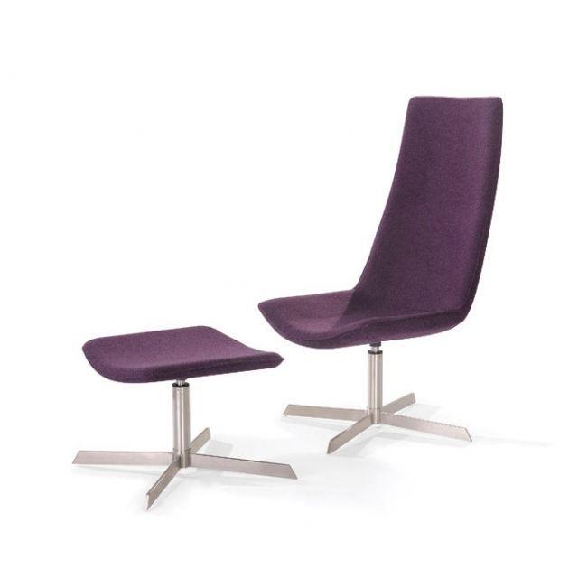 Lounge Design Avec Repose Fauteuil Violet Pied dCBoex