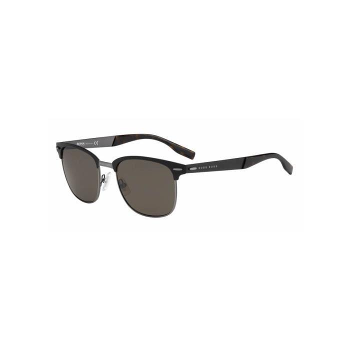 24a37c3b177480 Lunette de soleil BOSS 0595 S 832 (QT) Noir - Achat   Vente lunettes ...