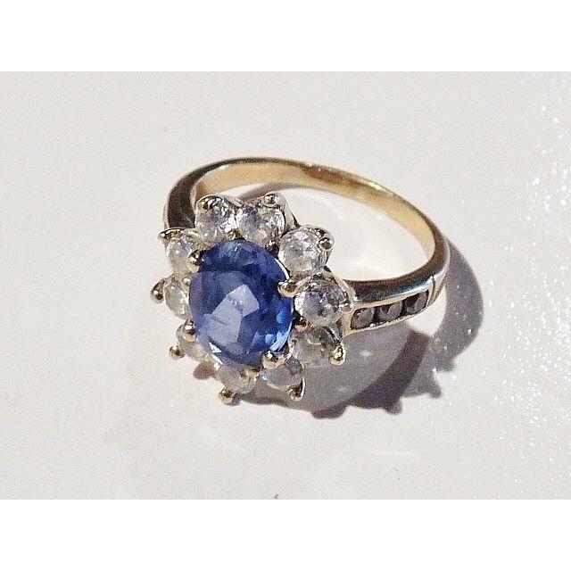 BAGUE , ANNEAU Bijoux Bague Marquise Vermeil Zirconium Bleu T 52