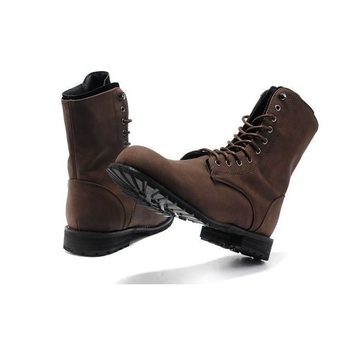 bottes de combat de l'hiver en angleterre le style rétro vogue hommes est courte