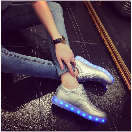 Lampe rechargeable USB LED chaussures fluorescentes chaussures chaussures chaussures Étudiants coréens