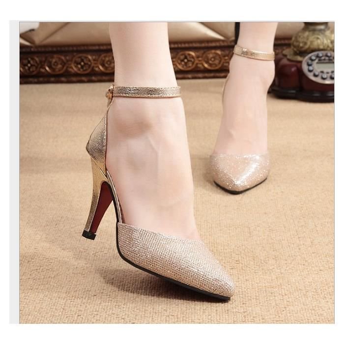 les femmes d'été Buckle Sandals fine avec des chaussures