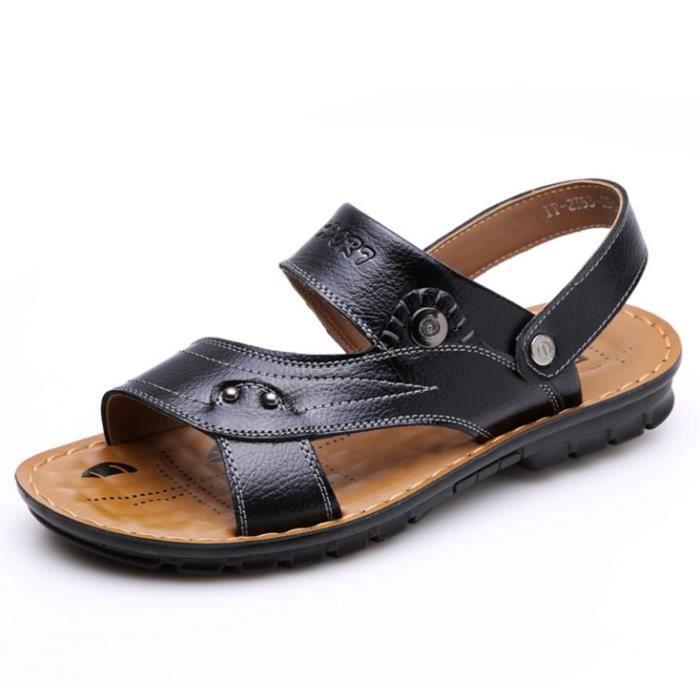 Hommes Sandales en cuir chaussures de plage