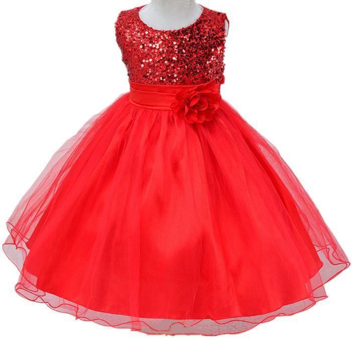 c17d6d4352f Surprise Luxe Robe de Soiree Fille Costume de Princesse Robe A paillettes  Pour 2-12 ans