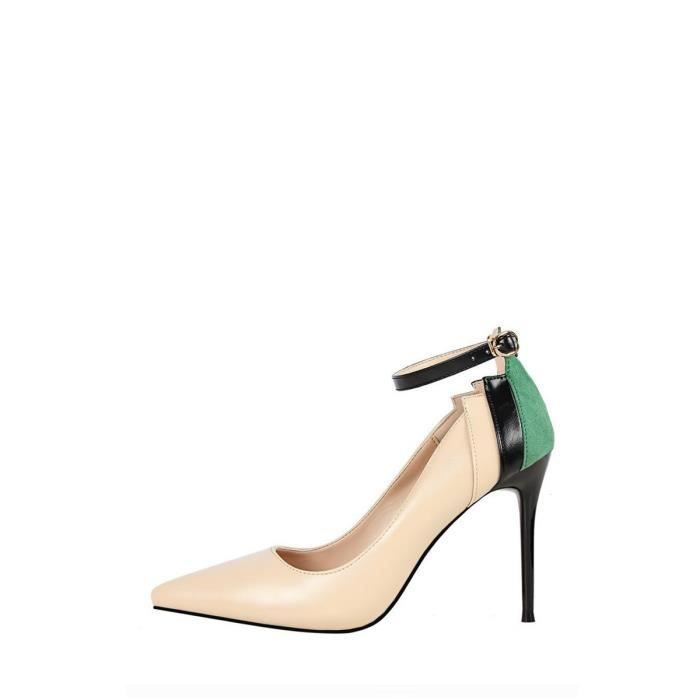 Escarpin Couleur des femmes talon haut Pompes monobloc élégant Toutes les chaussures match 9297176