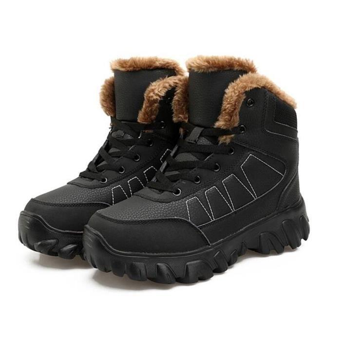 hommes Bottes de neige Hiver en plein air de épaisses pour chaussure peluche Antidérapant chaudBotte longues gris taille 39-44 Ve15qD