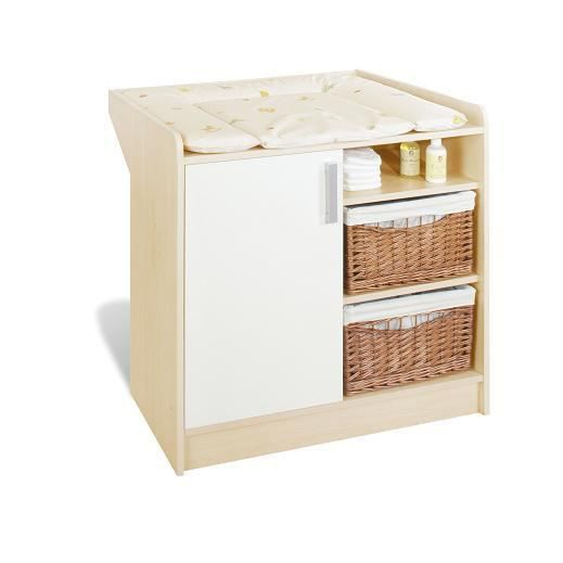 Commode langer b b florian blanc achat vente table - Commode bebe cdiscount ...