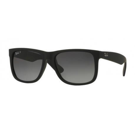 Achetez Lunettes de soleil Ray-Ban Homme JUSTIN RB4165 622 T3 Noire ... 2f7772099c5b