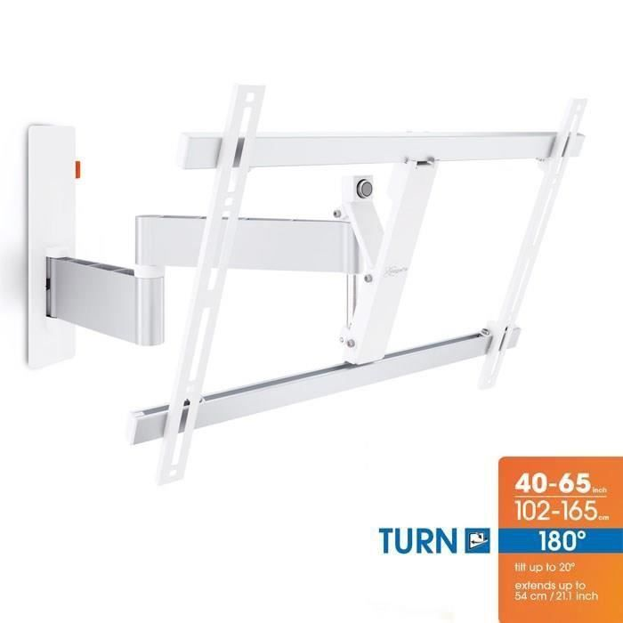 Vogel 39 s wall 2345 blanc support mural tv orientable et - Support tv mural motorise orientable inclinable ...