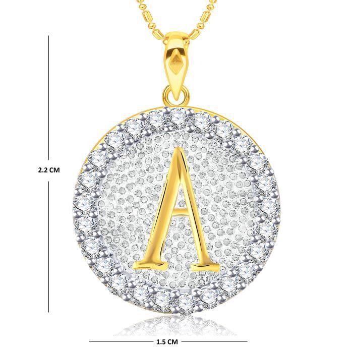 Lettre de femmes Vk Bijoux Alphabet Collection Brass alliage dor Cz américain diamant Alphabet PendentifKJ7NX