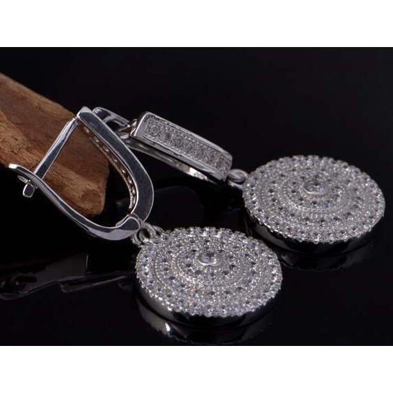 YSF@ Femelle Boucles doreilles style européen cristal autrichien Plaqué or blanc 18K Cadeaux de vacances