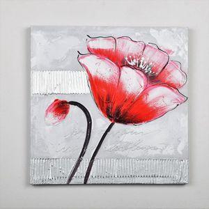 TABLEAU - TOILE Tableau déco Fleurs  80 -  Toile peinte à la main