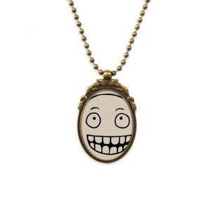 SAUTOIR ET COLLIER smiley noire modèle sourire stupide le collier de