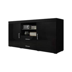 buffet noir laque achat vente buffet noir laque pas cher soldes d s le 10 janvier cdiscount. Black Bedroom Furniture Sets. Home Design Ideas