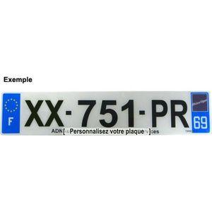 PLAQUE IMMATRICULATION Plaque Immatriculation AUTO Plexiglass - Nouvelle
