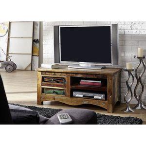 MEUBLE TV Meuble TV - Bois massif recyclé multicolore laqué