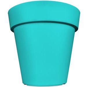 pot de fleur turquoise achat vente pot de fleur turquoise pas cher cdiscount. Black Bedroom Furniture Sets. Home Design Ideas