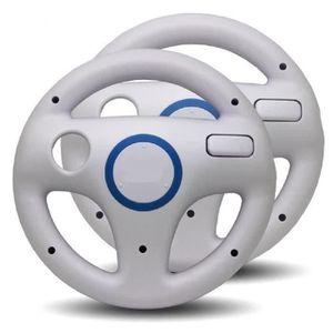 MANETTE JEUX VIDÉO 2x Volants de Course pour Nintendo Wii - Blanc L08