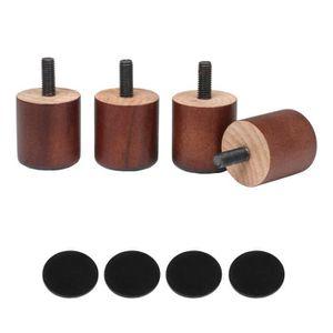 Leveuse De Pieds Ronde De Meubles Deucalyptus Bois 96x50mm Pour La