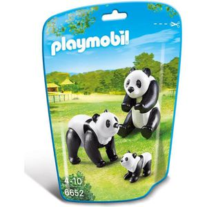 FIGURINE - PERSONNAGE PLAYMOBIL 6652 - Le Zoo - Famille de pandas