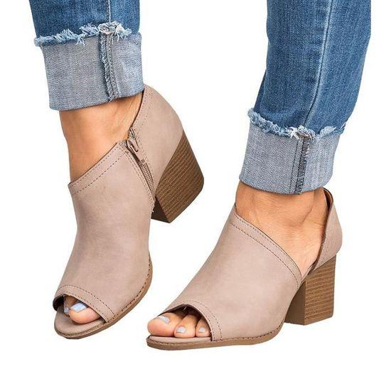 Poisson Minetom Été Tongs Fond Sandales Femmes Pantoufles Bouche Chausson Mules Mode Épais Loisirs Rj5A4q3L