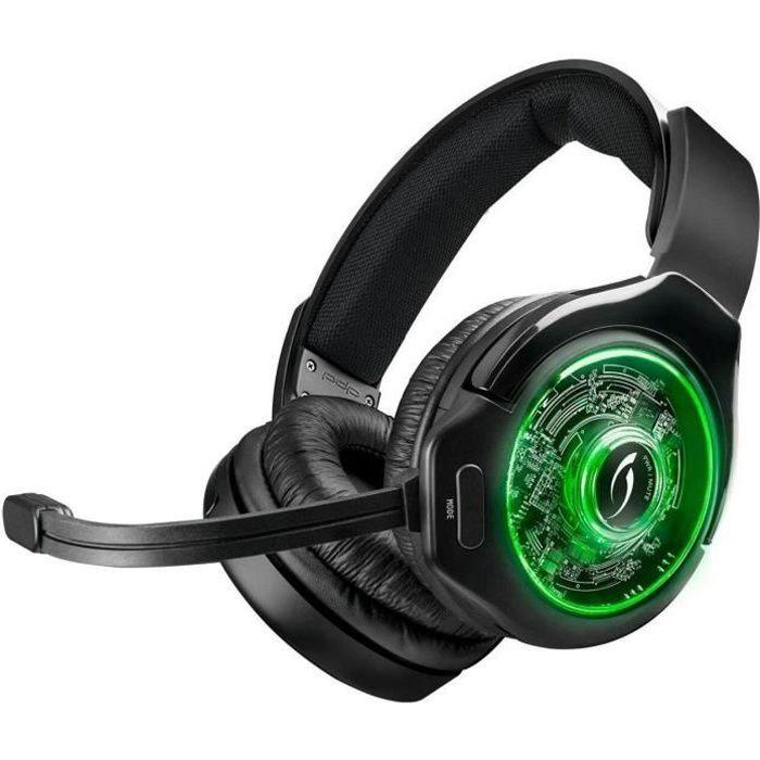 Casque Afterglow Ag9 Wireless pour Xbox One Noir, gris et vert