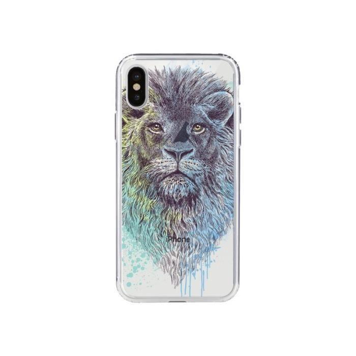 iphone x coque lion