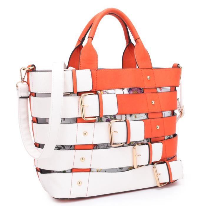 2 Dans une Womens fourre-tout Cartable sac à main Designer Sac à bandoulière W - Floral Pouch AVUY0