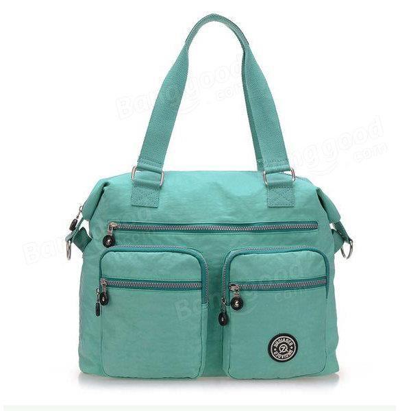 SBBKO2870Femmes sacs à main en nylon occasionnels sacs à bandoulière imperméable poche multiples crossbody extérieure sacs Vert
