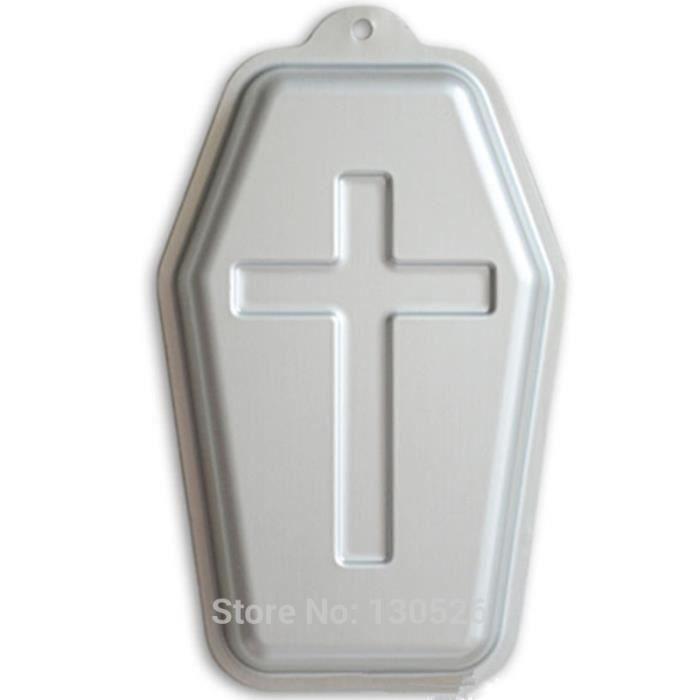 Coffin Halloween Pan Croix En Alliage D Aluminium Moule A Gateau