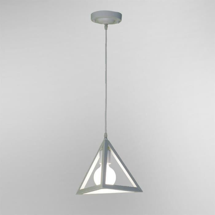 Beau Lustre Industriel Lustre Design Créatif Luminaire Encastré Décoratif 1 Lampe Blanc  Pendentif Lampe