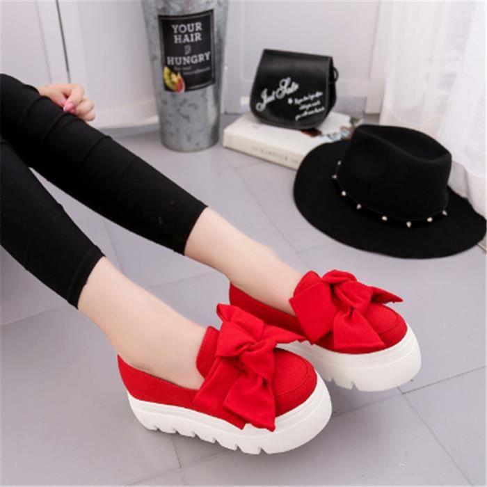 Ballerine Chaussure Femmes Nouvelle Mode Qualité Supérieure Casual Confortable Antidérapant Plat Couleur 5 Cm Chaussures Papillon C3HjA3l6