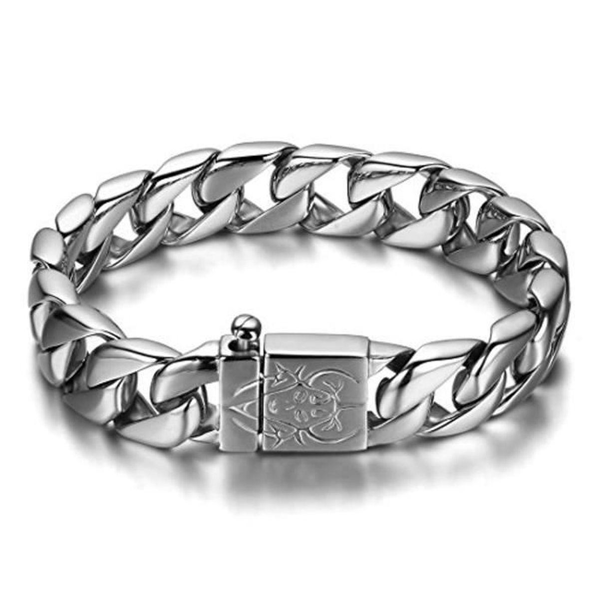 Bracelet large or pour homme