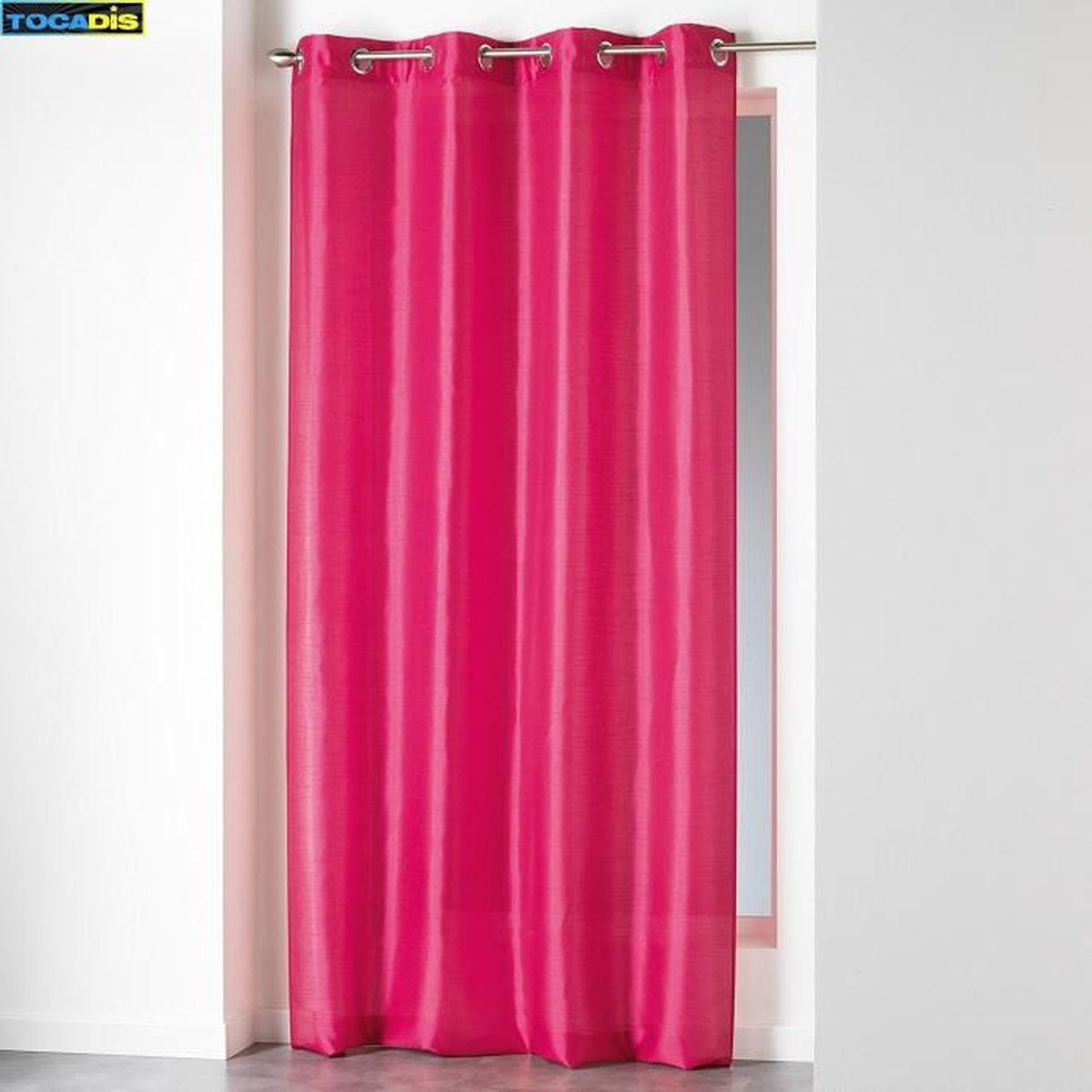 rideau fushia 140 240 achat vente rideau fushia 140 240 pas cher soldes d s le 10 janvier. Black Bedroom Furniture Sets. Home Design Ideas