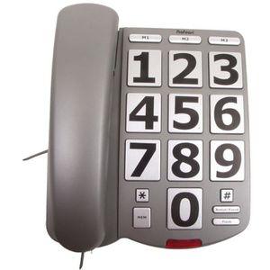 Téléphone fixe TELEPHONE FIXE SENIOR CLAVIER GROSSES TOUCHES 10 M