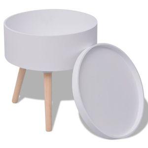 8b3882b8bd41a0 BOUT DE CANAPÉ Bouts de canape Table auxiliaire avec plateau ron