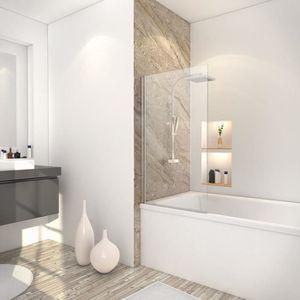 PORTE DE BAIGNOIRE Pare-baignoire pliant 70x130 cm, paroi de baignoir