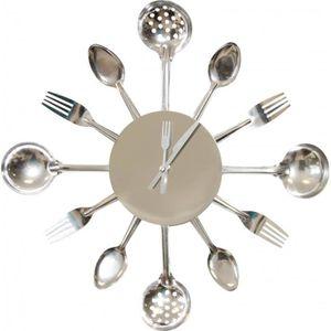 amazing horloge horloge murale cuisine argent with pendule originale pour cuisine. Black Bedroom Furniture Sets. Home Design Ideas