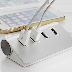 AUTRE PERIPHERIQUE USB  Port USB argent pour PC ordinateur 4 ports alumini