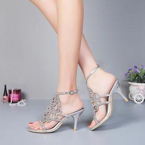 Nouveau luxe de chaussure 10cm été plate-forme transparente mariage bohème sandales bridal ErQyeSNlk