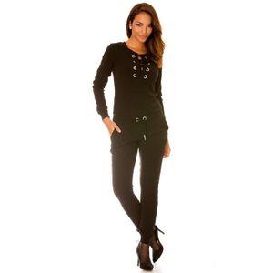 COMBINAISON Miss Wear Line - Combinaison fashion en maille noi