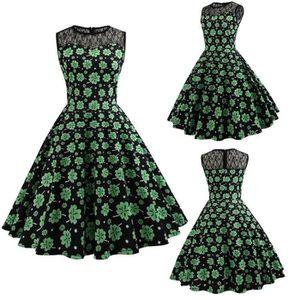 ROBE fermeture à glissière robe d'été Femmes Vintage Im